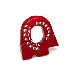 TRAXXAS Motor mount plate, TRX-4, 6061-T6 aluminum (red-anodized) 8290R