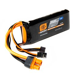 2000mAh 2S 7.4V Smart LiPo Receiver Battery IC3