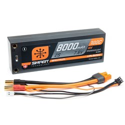 8000mAh 2S 7.6V 100C Smart HV LiPo Case 5mm Tubes