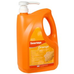 SWARFEGA ORANGE HAND CLEANER PUMP TOP BOTTLE 4 LITRE - SWASOR4LMP