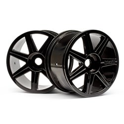 Hpi Racing  7 SPOKE BLACK CHROME TROPHY TRUGGY WHEEL 101156