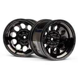 Hpi Racing  Bullet ST Wheels Black Chrome (Pr) 101252