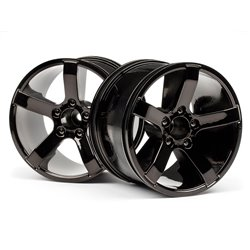 Hpi Racing  Bullet MT Wheels Black Chrome (Pr) 101309