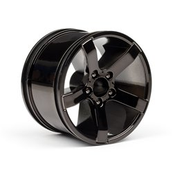 Hpi Racing  Bullet MT Wheels Black Chrome (Pr) 101309 2