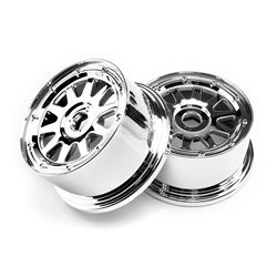 Hpi Racing  TR-10 WHEEL CHROME (120x60mm/-4mm OFFSET) 104973