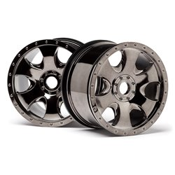 Hpi Racing  WARLOCK WHEEL BLACK CHROME (83X56MM/2PCS) 105801