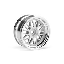 Hpi Racing  HRE C90 WHEEL 26MM CHROME/WHITE (6MM OFFSET/2PCS) 106773
