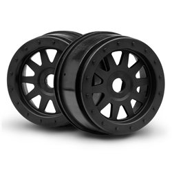 Hpi Racing  TR-10 GLUE-LOCK WHEEL BLACK (120X60MM/2PCS) 106896