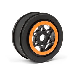 Hpi Racing  AH-64 WHEEL BLACK/ORANGE (42x83mm/2pcs) 107855 2