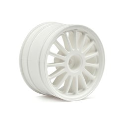 Hpi Racing  WR8 TARMAC WHEEL WHITE (2.2&quot/57X35MM/2PCS) 108075 2