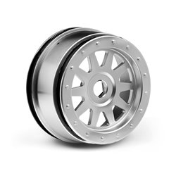 Hpi Racing  TR-10 GLUE-LOCK WHEEL MATTE CHROME (120X60MM/2PCS) 108321 2