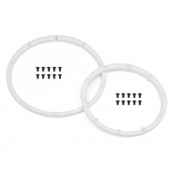 Hpi Racing  WHEEL BEAD LOCK RINGS (WHITE/FOR 2 WHEELS) 110545