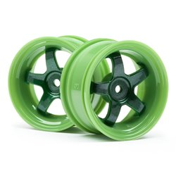 Hpi Racing  WORK MEISTER S1 WHEEL GREEN (3MM OFFSET/2PCS) 111090