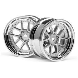 Hpi Racing  DY-CHAMPION 26MM WHEEL (CHROME/SILVER/6MM OS/2PCS) 111276