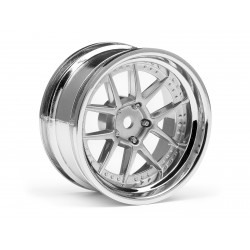 Hpi Racing  DY-CHAMPION 26MM WHEEL (CHROME/SILVER/6MM OS/2PCS) 111276 2