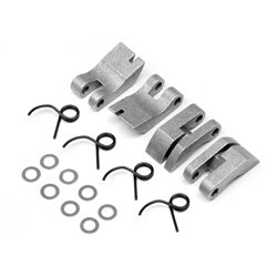Hpi Racing  ALUMINUM QUADRA CLUTCH SHOE/SPRING SET 111350