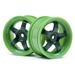 Hpi Racing  WORK MEISTER S1 WHEEL GREEN 26MM (0MM OS/2PCS) 113095
