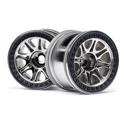 Hpi Racing  SPLIT 8 TRUCK WHEEL (CHROME/2PCS) 113336