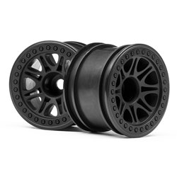 Hpi Racing  SPLIT 8 TRUCK WHEEL (BLACK/2PCS) 113337