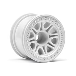 Hpi Racing  SPLIT 8 TRUCK WHEEL (WHITE/2PCS) 113339 2