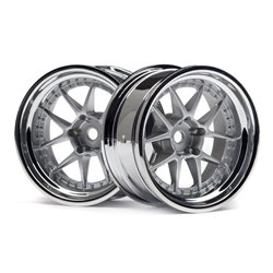 Hpi Racing  DY-CHAMPION 26MM WHEEL (CHROME/SILVER/9MM OS/2PCS) 114636