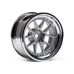 Hpi Racing  DY-CHAMPION 26MM WHEEL (CHROME/SILVER/9MM OS/2PCS) 114636 2