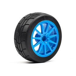 Hpi Racing  MOUNTED GYMKHANA TIRE/SPEEDLINE CORSE TURINI WHEEL SET (CYAN/2PCS) 115155 2