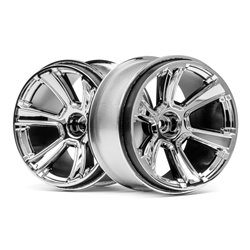 Hpi Racing  6-SHOT MT WHEEL (CHROME/2PCS) 115324