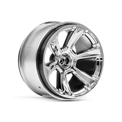 Hpi Racing  6-SHOT MT WHEEL (CHROME/2PCS) 115324 2