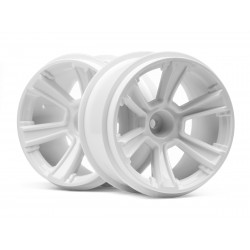 Hpi Racing  6-SHOT MT WHEEL (WHITE/2PCS) 115325