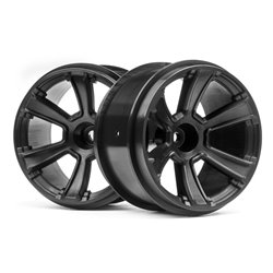 Hpi Racing  6-SHOT MT WHEEL (BLACK/2PCS) 115327