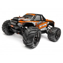 Hpi Racing  TRIMMED AND PAINTED BULLET FLUX MT BODY (BLACK) 115510