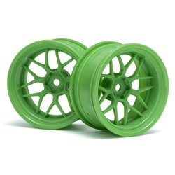 Hpi Racing  TECH 7 WHEEL GREEN 52X26X+9MM OFFSET (2PCS) 116532
