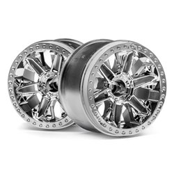 Hpi Racing  6-SHOT ST WHEEL (CHROME/2PCS) 116736