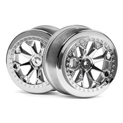 Hpi Racing  8-SHOT SC WHEEL (CHROME/2PCS) 116739