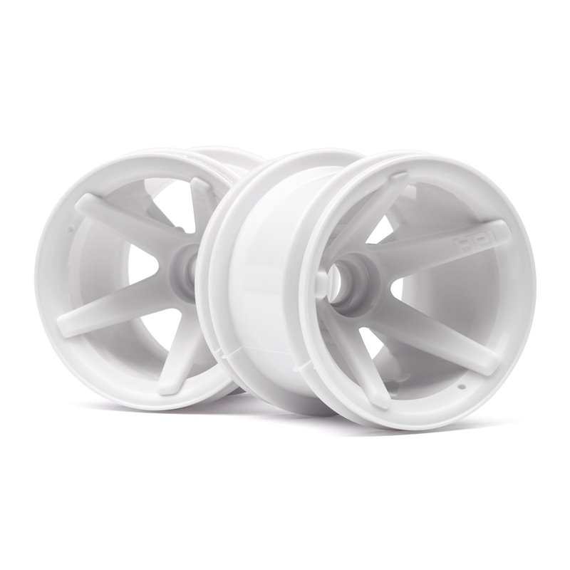 Hpi Racing  SUPER STAR MT WHEELS FRONT (WHITE/2.2IN/2PCS) 2100