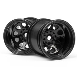 Hpi Racing  CLASSIC KING WHEEL BLACK (2.2IN/2PCS) 3061