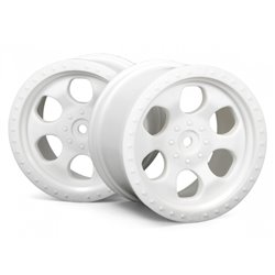 Hpi Racing  6 SPOKE WHEEL WHITE (83X56MM/2PCS) 3115