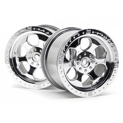 Hpi Racing  6 SPOKE WHEEL SHINY CHROME (83X56MM/2PCS) 3117