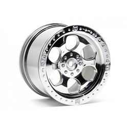Hpi Racing  6 SPOKE WHEEL SHINY CHROME (83X56MM/2PCS) 3117 2