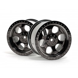 Hpi Racing  6 SPOKE WHEEL BLACK CHROME (83X56MM/2PCS) 3161