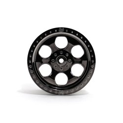 Hpi Racing  6 SPOKE WHEEL BLACK CHROME (83X56MM/2PCS) 3161 2