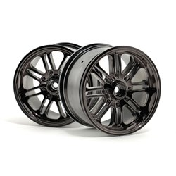Hpi Racing  8 SPOKE WHEEL BLACK CHROME (83X56MM/2PCS) 3173