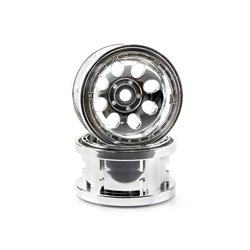 Hpi Racing  ROCK 8 BEAD LOCK WHEEL CHROME (55X36MM/2PCS) 3213 2
