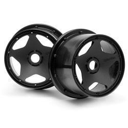 Hpi Racing  SUPER STAR WHEEL BLACK (120 X 75MM/2PCS) 3226