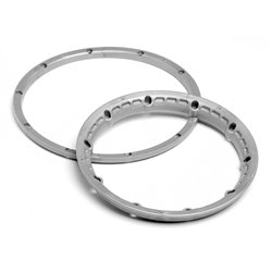 Hpi Racing  HEAVY DUTY WHEEL BEAD LOCK RINGS (SILVER/FOR 2 WHEELS) 3272