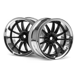 Hpi Racing  WORK XSA 02C WHEEL 26mm CHROME/BLACK (6mm OFFSET) 3287