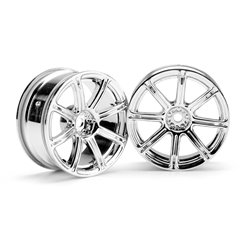 Hpi Racing  WORK EMOTION XC8 WHEEL 26MM CHROME (3MM OFFSET) 3300