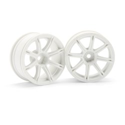Hpi Racing  WORK EMOTION XC8 WHEEL 26MM WHITE (6MM OFFSET) 3304
