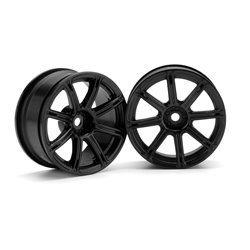 Hpi Racing  WORK EMOTION XC8 WHEEL 26mm BLACK (3mm OFFSET) 3306